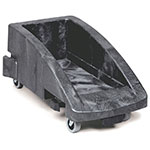 Rubbermaid FG355188BLA Slim Jim Trolley - 300-lb Capacity, Black