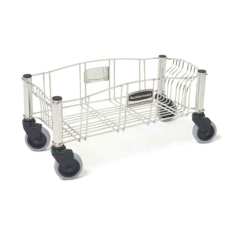 Rubbermaid FG355300SSSTL Slim Jim Trolley - 120-lb Capacity, Stainless