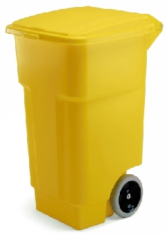 Rubbermaid FG9W2700BLUE 50-gal BRUTE Recycling Rollout Container with Lid - Blue