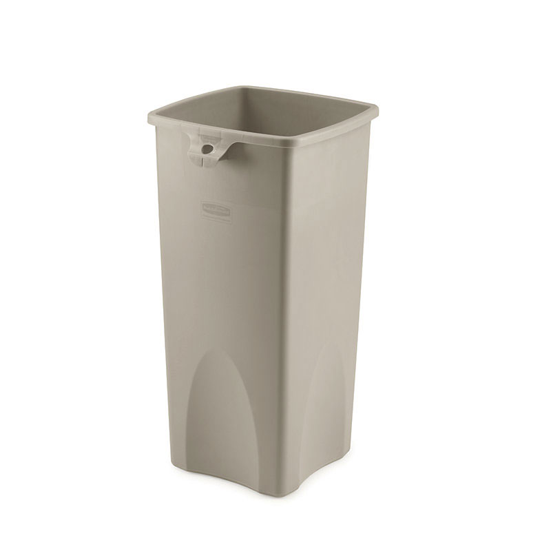 Rubbermaid FG356988BEIG 23-gal Untouchable Square Container - Beige