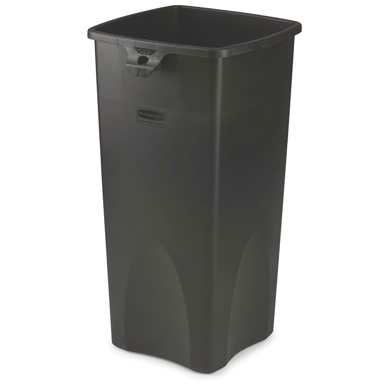 Rubbermaid FG356988BLA 23-gallon Commercial Trash Can - Plastic, Square, Food Rated