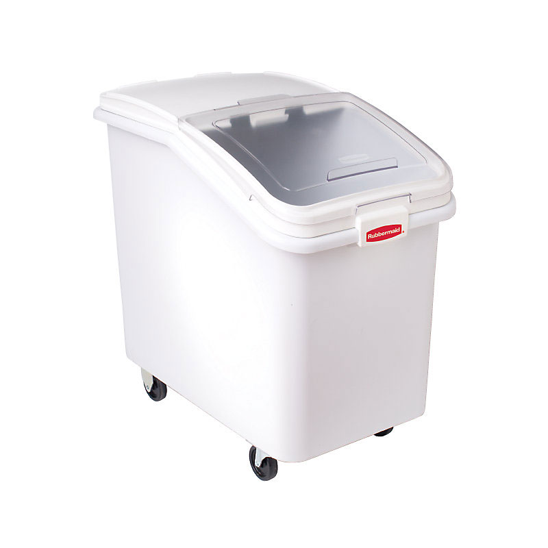Rubbermaid FG360388WHT ProSave Ingredient Mobile Bin - 4-...