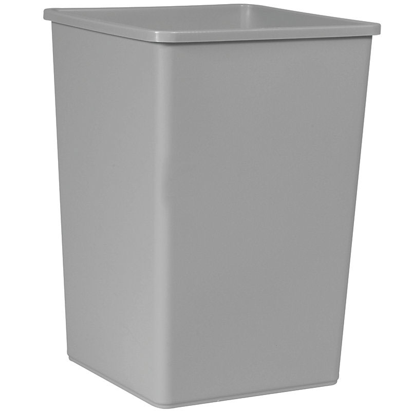 Rubbermaid FG395800GRAY 35-gallon Commercial Trash Can - Plastic, Square
