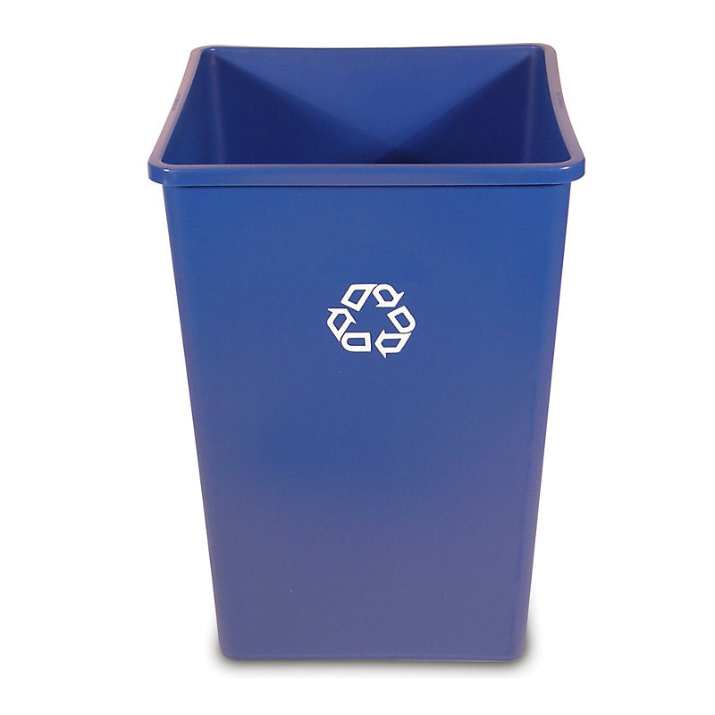Rubbermaid FG395973BLUE 50-gal Multiple Material Recycle ...