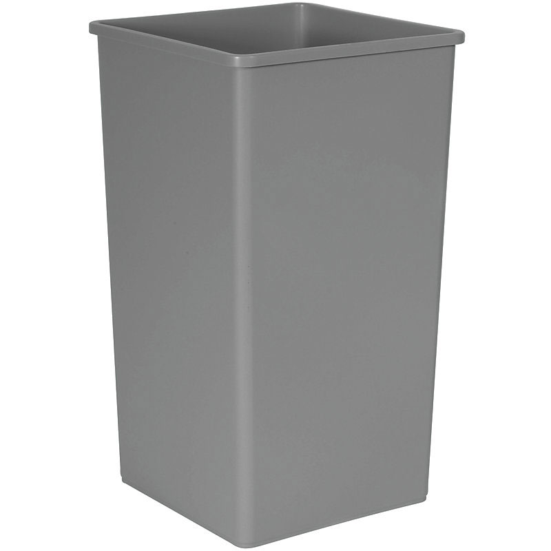 Rubbermaid FG395900GRAY 50-gal Square Recycling Container - Gray