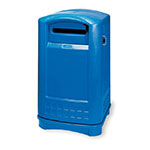 Rubbermaid FG396973BLUE 50-gal Paper Recycle Bin - Outdoor