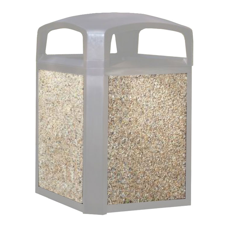 Rubbermaid FG400400CORL Trash Container Panel - 50-gal Landmark Series, Coral