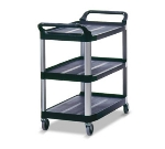 Rubbermaid FG409100BLA 3-Shelf Xtra Utility Cart - 300-lb Capacity, Open Sided, Black