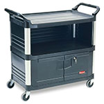 Rubbermaid FG409500BLA Equipment Cart w/ 300-lb Capacity, Black