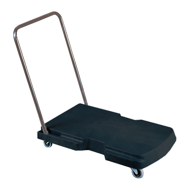 Rubbermaid FG440100BLA Triple Standard Trolley - 500-lb Capacity, Black