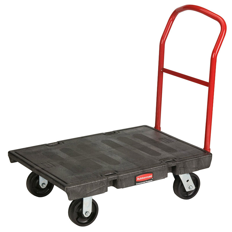 "Rubbermaid FG440600BLA Heavy Duty Platform Truck - 1000-lb Capacity, 6"" Castors, Black"