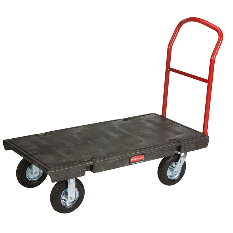 "Rubbermaid FG443610BLA Heavy Duty Platform Truck - 1000-lb Capacity, 8"" Castors, Black"