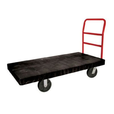 "Rubbermaid FG447100BLA Heavy Duty Platform Truck - 2000-lb Capacity, 8"" Castors, Black"