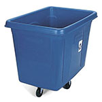 Rubbermaid FG461673BLUE Recycling Cube Truck - 16 cu ft, 500-lb Capacity, Dark Blue