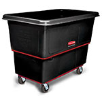 Rubbermaid FG472700BLA 1-cu yd Trash Cart w/ 1200-lb Capacity, Black