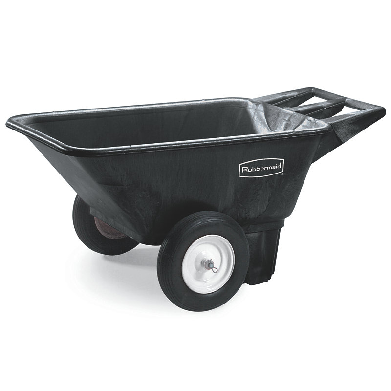 Rubbermaid FG564000BLA .28-cu yd Trash Cart w/ 300-lb Capacity, Black