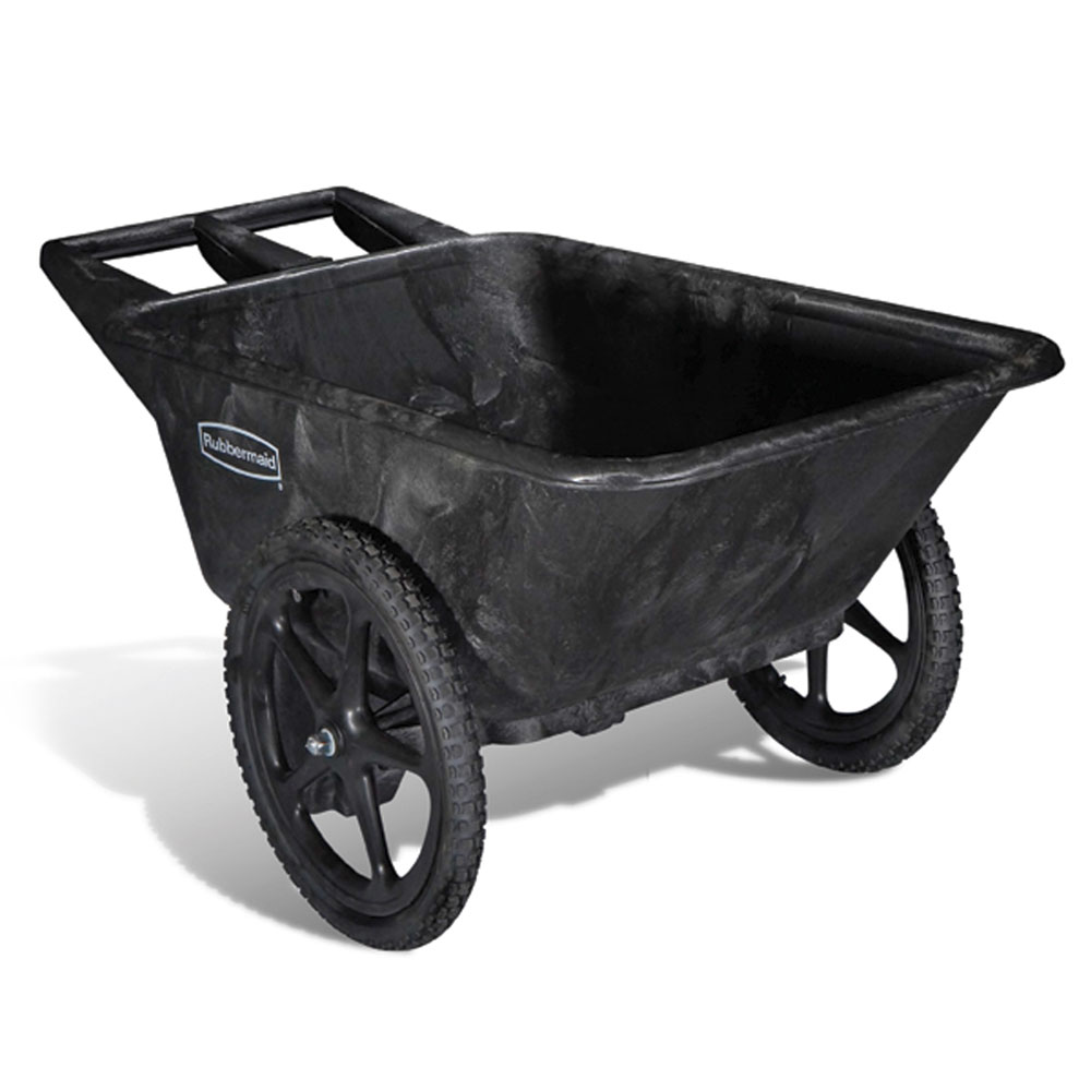 Rubbermaid FG564200BLA .28-cu yd Trash Cart w/ 300-lb Capacity, Black