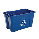 "Rubbermaid FG571873BLUE 18-gal Recycling Box - 20-3/4x16x14-3/4"" Blue"