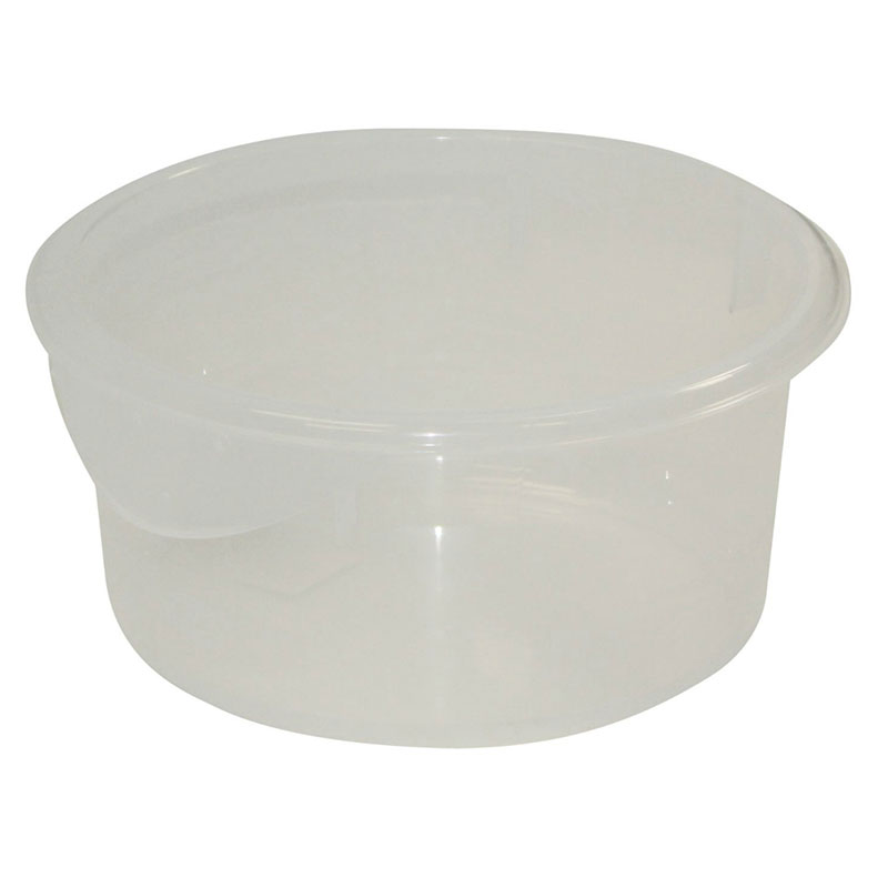 Rubbermaid FG572024CLR 2-qt Round Storage Container - Clear Poly