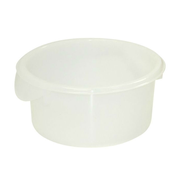 Rubbermaid FG572000WHT 2-qt Round Storage Container - White Poly