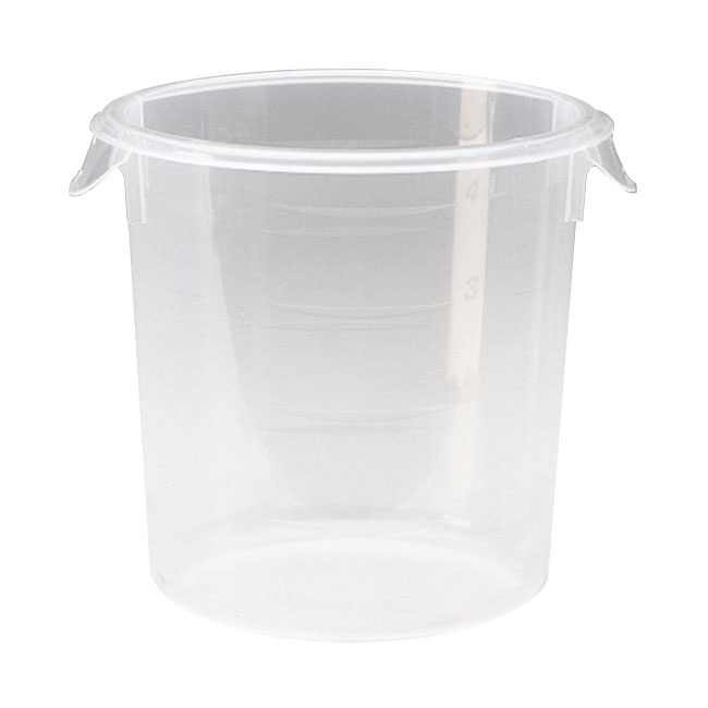 Rubbermaid FG572124CLR 4-qt Round Storage Container - Clear Poly