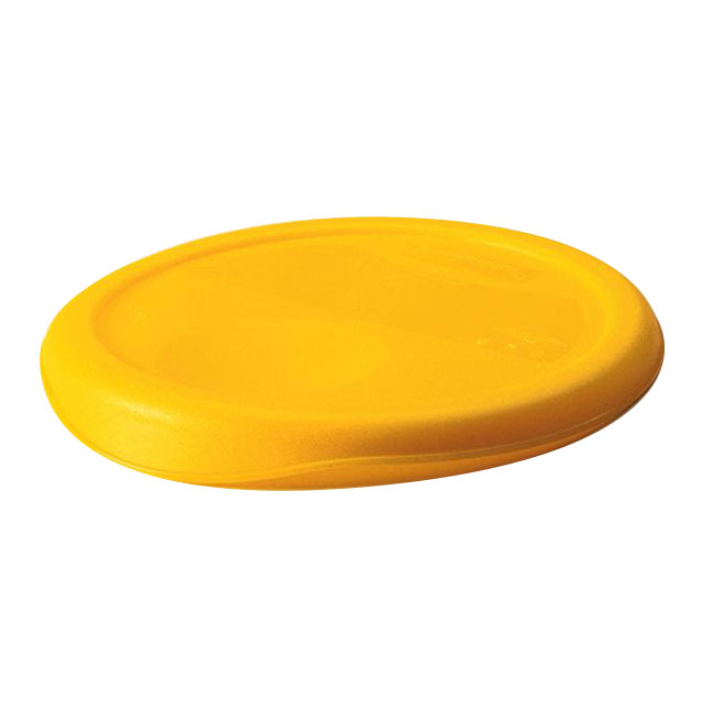 "Rubbermaid FG573000YEL 13-1/2"" Round Storage Container Lid - Yellow Poly"