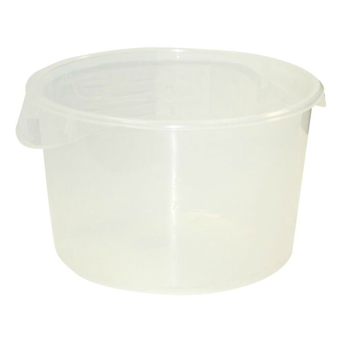 Rubbermaid FG572624CLR 12-qt Round Storage Container - Clear Poly