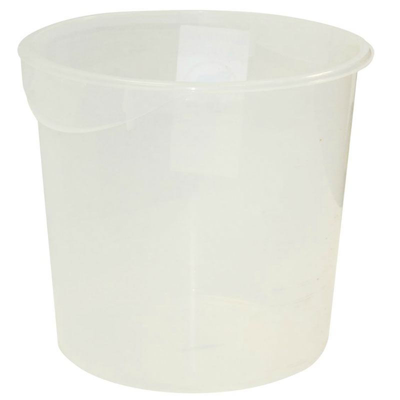 Rubbermaid FG572700WHT 18-qt Round Storage Container - White Poly