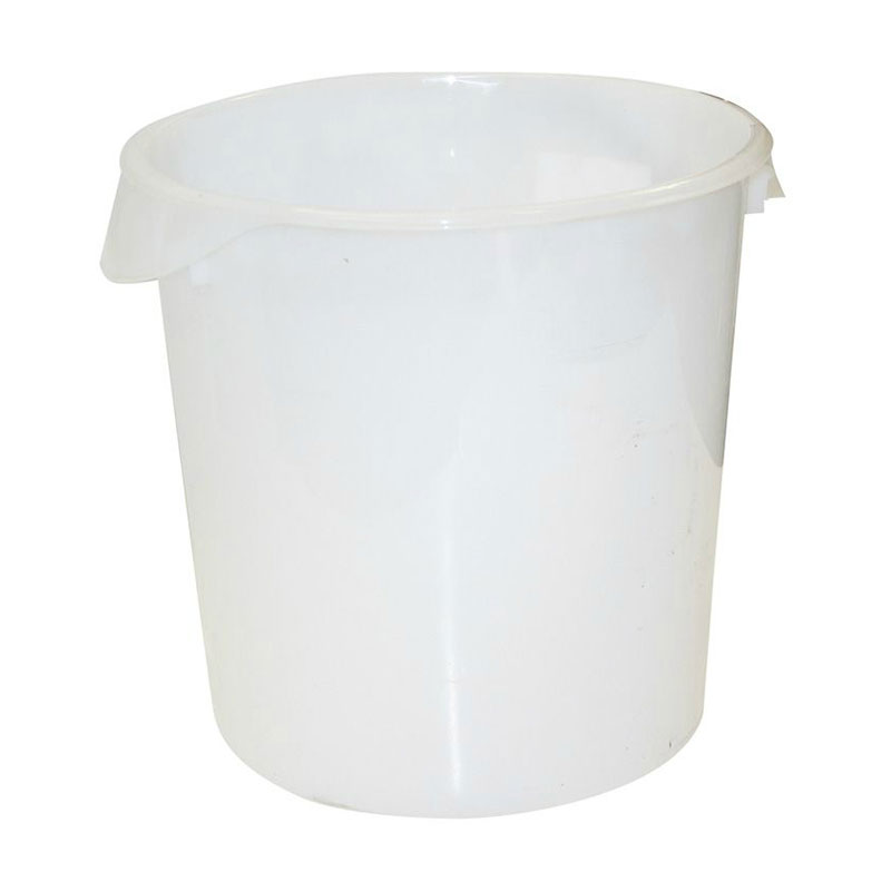 Rubbermaid FG572800WHT 22-qt Round Storage Container - White Poly