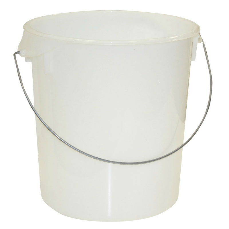 Rubbermaid FG572924CLR 22-qt Round Storage Container - Removable Bail, Clear Poly