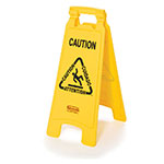 "Rubbermaid FG611200YEL 2-Sided Floor Sign - ""Caution"" Multi-Lingual, Yellow"