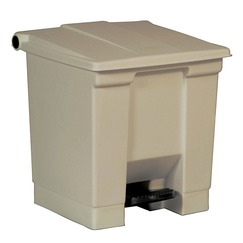 Rubbermaid FG614300WHT 8-gal Step-On Container - White