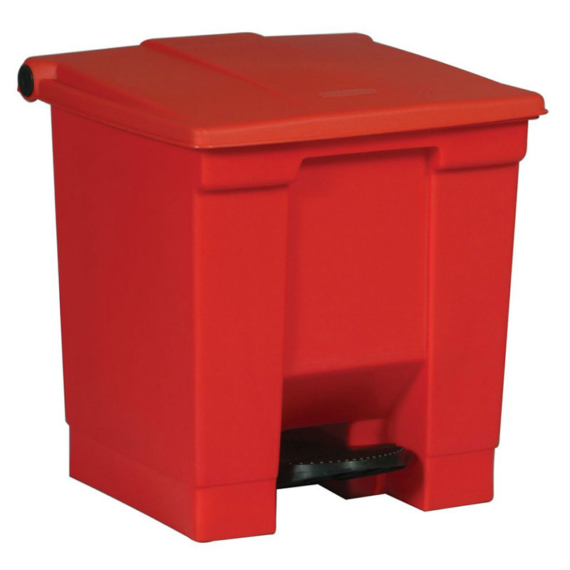 Rubbermaid FG614300RED 8-gal Step-On Container - Red