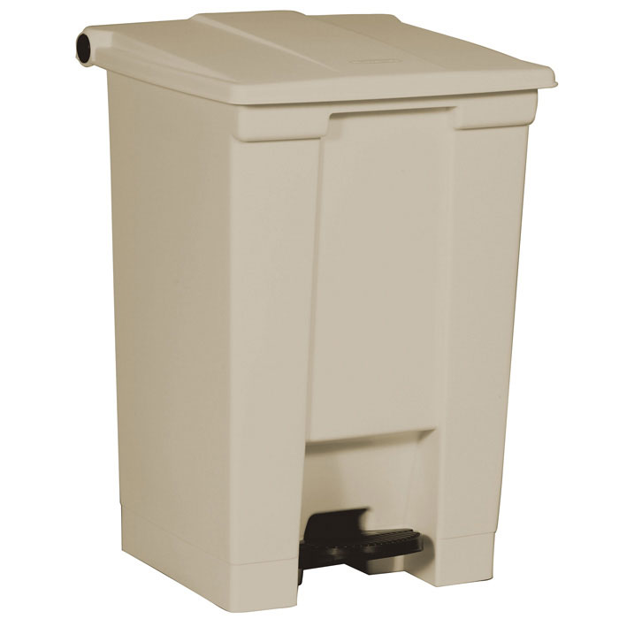 Rubbermaid FG614400BEIG 12-gal Step-On Container - Beige
