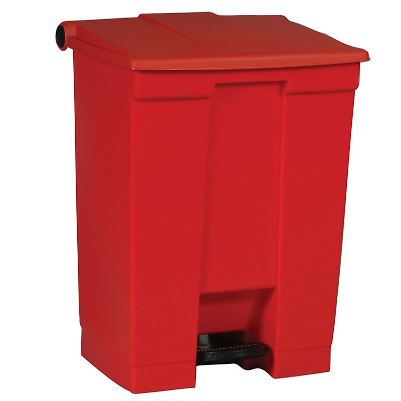 Rubbermaid FG614500RED 18-gal Step-On Container - Red