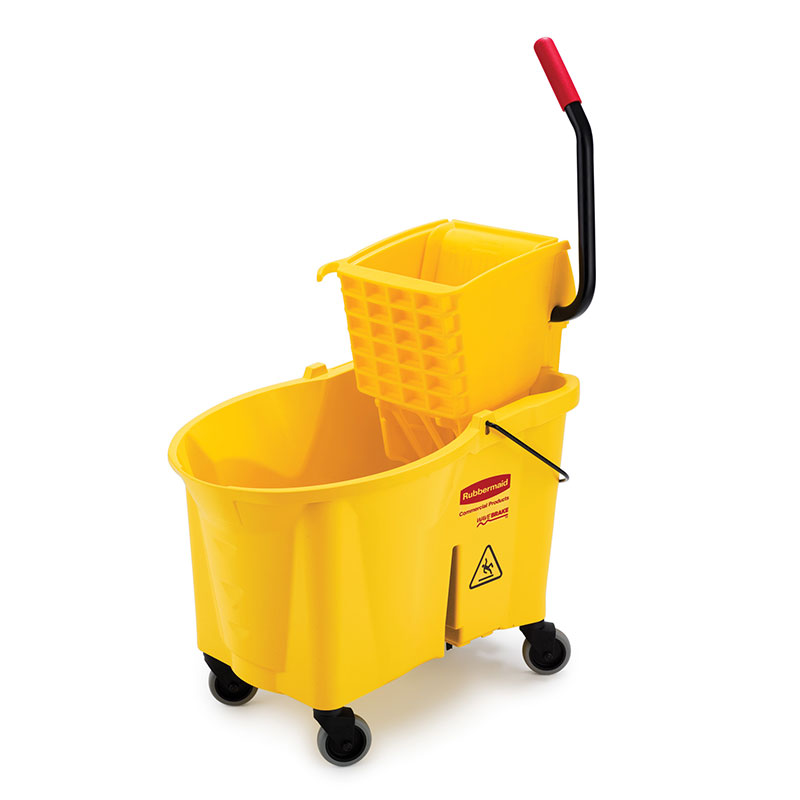 Rubbermaid FG618688YEL 44-qt WaveBrake Mopping System - Side Press, Foot Pedal, Yellow