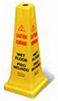 """Rubbermaid FG627777YEL Safety Cone - """"Caution, Wet F"""