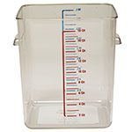 Rubbermaid FG631800CLR 18-qt Space Saving Square Container - Clear Poly