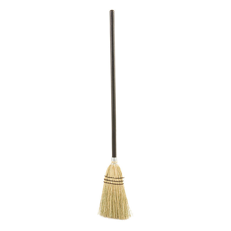 Rubbermaid FG637300BRN Lobby Corn Broom - Brown