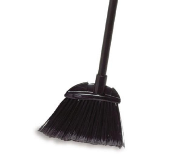 Rubbermaid FG638500GRAY BRUTE Broom - Aluminum Handle, Flagged Poly Fill, Gray