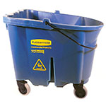 Rubbermaid FG757088BLUE 35-qt WaveBrake Bucket - Castor Kit, Blue