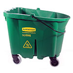 Rubbermaid FG757088GRN 35-qt WaveBrake Bucket - Castor Kit, Green