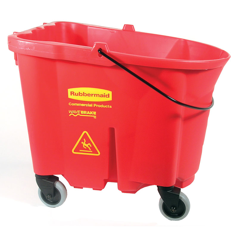 Rubbermaid FG757088RED 35-qt WaveBrake Bucket - Castor Kit, Red