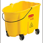 Rubbermaid FG757088YEL 35-qt WaveBrake Bucket - Castor Kit, Yellow