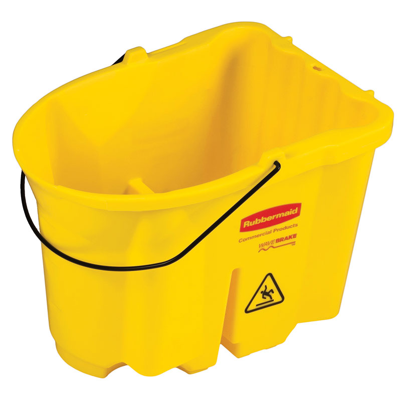 Rubbermaid FG757188YEL 35-qt WaveBrake Bucket - Yellow
