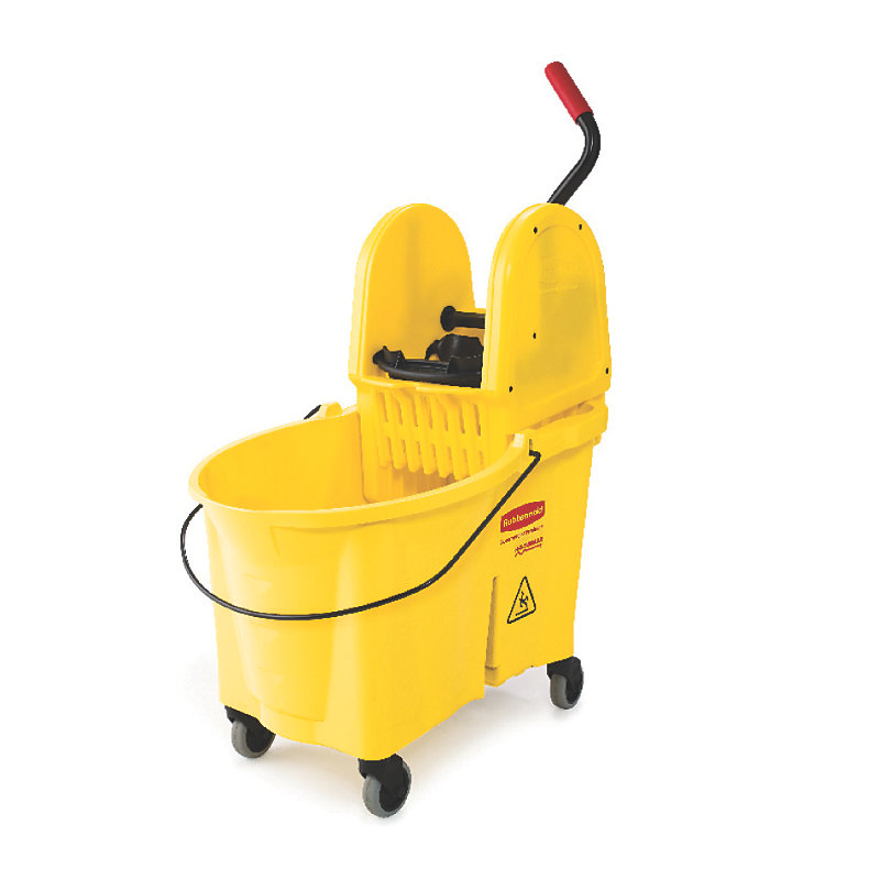 Rubbermaid FG757688YEL WaveBrake Mopping System Down Press 44 qt Foot Pedal Yellow Restaurant Supply