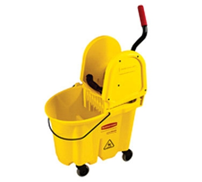 Rubbermaid FG757788YEL WaveBrake Moping Combo Pack 7570 Mop Bucket 7575 Wringer Yellow Restaurant Supply