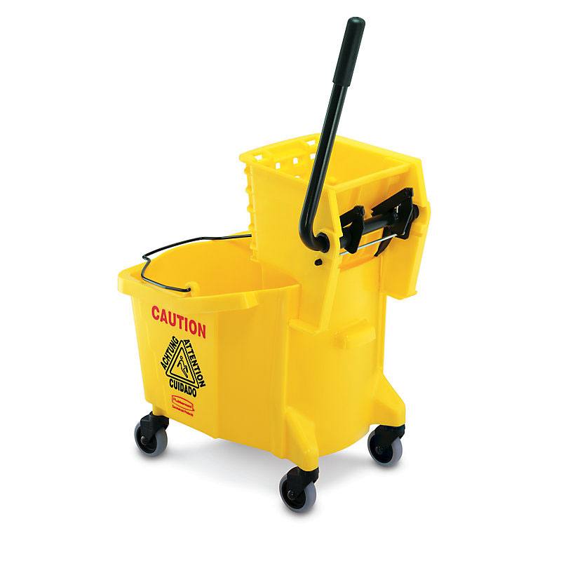 Rubbermaid FG758088YEL 35 Qt. Mop Bucket & Wringer Yellow Restaurant Supply