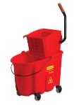 Rubbermaid FG758888RED 35-qt WaveBrake Specialty Mopping Combo - Side Pres