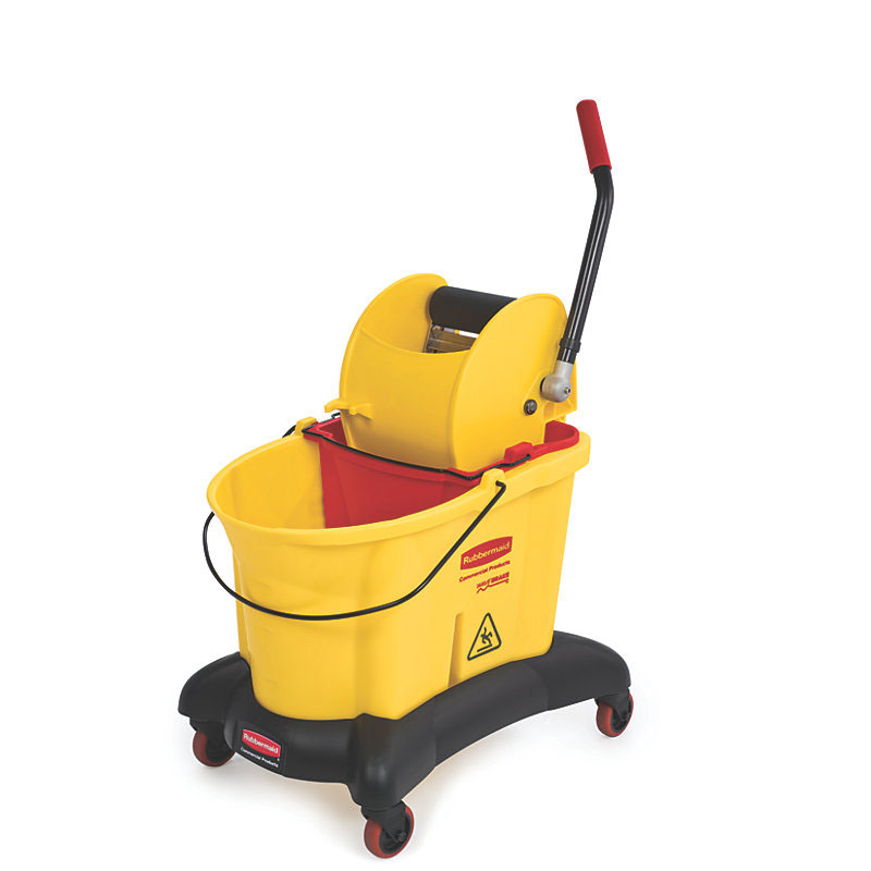 Rubbermaid FG767700YEL 35-qt WaveBrake Dual Water Mopping Combo - Down Press, Yellow